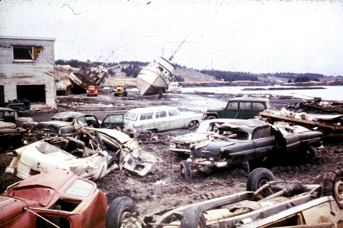 Alaska Earthquake 1964 Kodiak Tsunami Damage