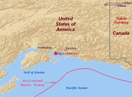 Alaska Earthquake 1964 Epicenter Map