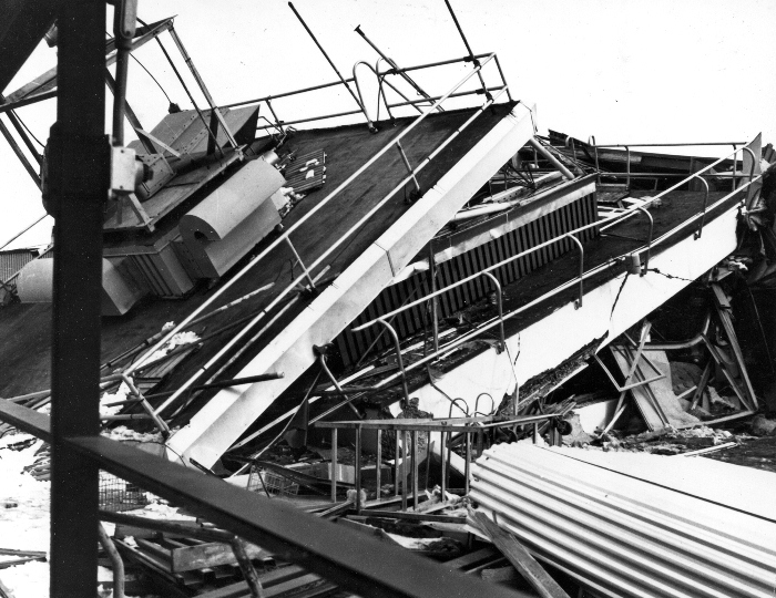 Alaska Earthquake 1964 Airport Control Tower Collapse